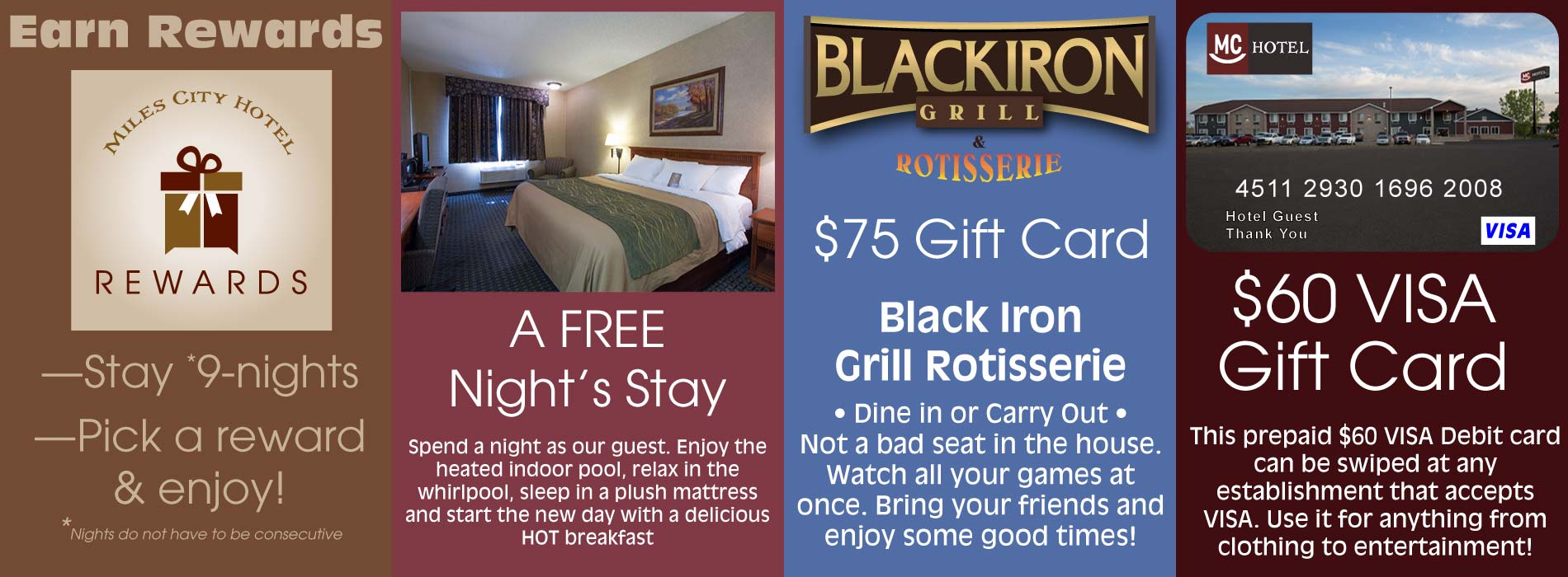 Earn rewards when you stay with us!